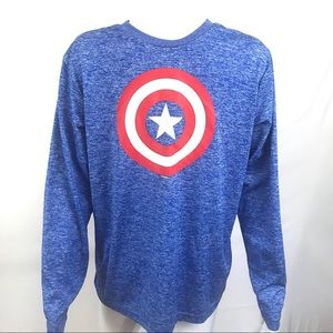 Marvel Captain America Graphic T-Shirt Med 38